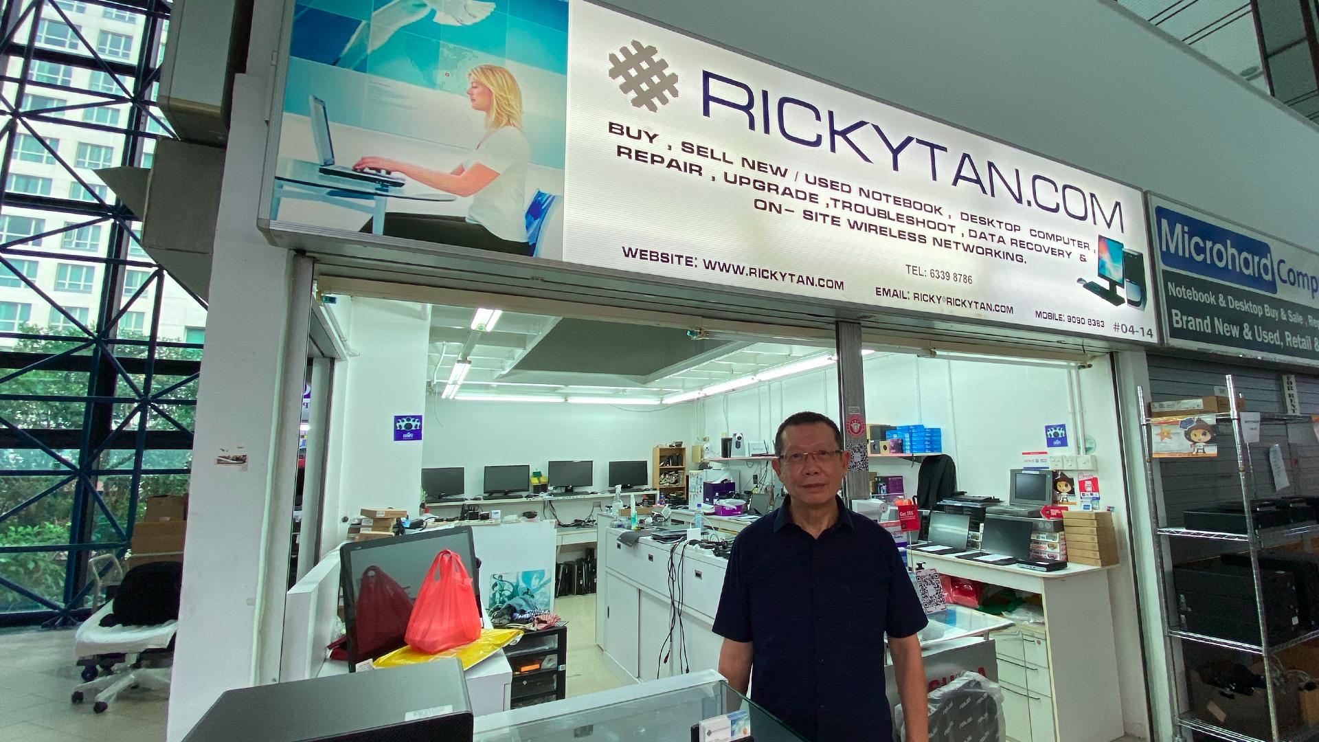 Ricky Tan PC and Laptop Repair Shop Sim Lim Square
